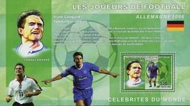Football Soccer Player Frank Lampard Sport Souvenir Sheet Mint NH - $15.30