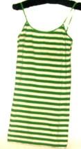 WOMEN'S WHITE /GREEN SCOOP NECK TANK/CAMI SIZE L - $5.00