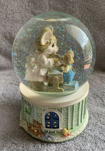 "Primary image for Vintage San Francisco Music Box Company Mouse Capers Snow Globe ""Parenting"" Baby"