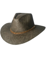 Montecarlo Spice Island Bao Straw Safari Pinchfront Crown Med Brim Brown - $56.00