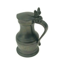"Vintage Pewter Lidded Stein Acorn Finial ETAIN ART France Titre Legal 5"" U7 - $23.33"