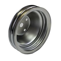 Long Water Pump Pulley LWP Double-Groove For Small Block Chevy SBC 262 327 400 image 3