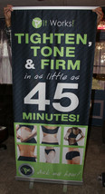 It Works! Pop-up Retractable Banner including Stand & Case Pre-Owned Exc... - $96.74