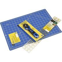 Dritz 1083 Cutting Kit with Rotary Cutter, Cutting Mat & Ruler , Blue - $59.99