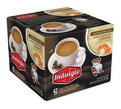 Indulgio Single Serve for K-cup , White Chocolate Caramel Cappuccino, 42... - $29.99