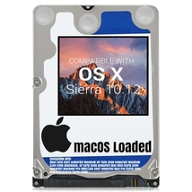 macOS Mac OS X 10.12 Sierra Preloaded on Sata HDD - $12.99+