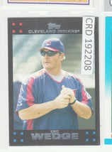 2007 Topps Red Backs Cleveland Indians Baseball Card #611 Eric Wedge MG ... - $0.98
