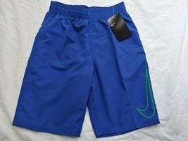 New Nike Boys Sz L Large 12-13 yrs Royal Blue Swimsuit Swim Trunks NWT $... - $17.79