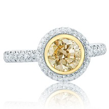 1.65 TCW Round Yellow Diamond Engagement Ring 14k White Gold - €2.745,01 EUR