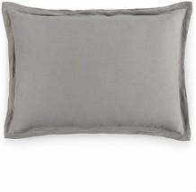 Hotel Collection Standard Pillow Sham 100% Linen Fog Grey Machine Wash $... - $31.63