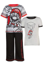 NEW KIDS TODDLER BOYS SUPER MARIO 3 PIECE PAJAMAS SET NWT