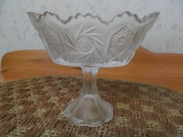 Beautiful Vintage Satin Glass Fenton Console Pinwheel Pattern *EVC* - $17.81