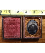 Daguerreotype of Large Rich Man Missing two fingers in Decorative Case 1... - $75.00