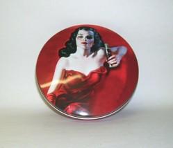 Vintage Round Coca Cola Calendar Girl Tin Box - $31.13