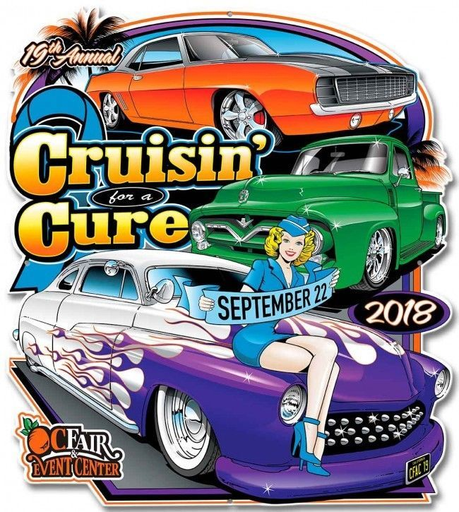 Primary image for Cruisin' for a Cure 2018 Car Event Plasma Cut Metal Sign