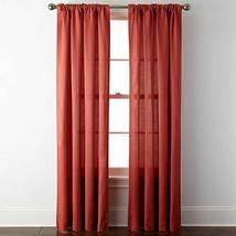 "Nwt Window Curtain Set Rod Pocket Back Tab Panels 50 X 84"" Tomato Red (1 Pair) - $68.31"