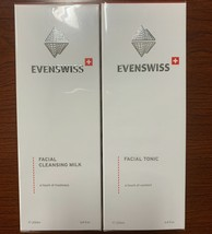 Evenswiss Facial Tonic and Cleansing Milk Duo Deep Cleansing Improve Hyd... - $37.24