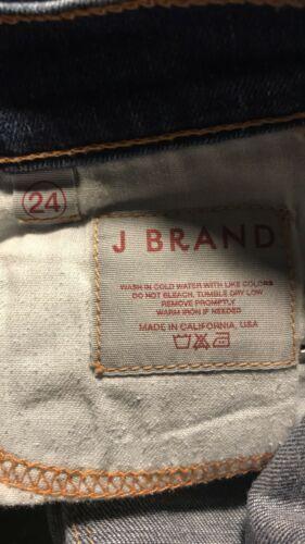 J Brand Damen Größe 24 Skinny Knöchel Jeans mit Dunkel Gewaschener Denim Blau image 5