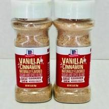 McCormick Vanilla Cinnamon Sugar & Spice Blend Lot of 2  Exp  6/22/2021 ... - $15.47