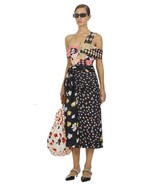 2019 AUTH New Self Portrait Mixed Floral Wrap Midi Skirt $425 - $130.50