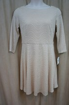 Jessica Howard Dress Sz 12 Tan Textured 3/4 Sleeve Business Dinner Work ... - €17,86 EUR