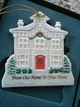 """LENOX Christmas Ornament 1996 Our Home to Your Home - Box is Worn 3"""" x 2... - $13.98"""