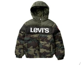 Levis Puffer Jacket Camo BOYS YOUTH Large 12-13 Years - $21.78