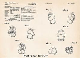 "16""x22"" Star Wars Gifts Yoda Patent Drawing Pri... - $19.80"