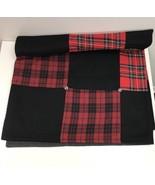 """Red Black Buffalo Plaid Scotch Plaid Black Gray Silver Throw Blanket 54""""... - $112.19"""