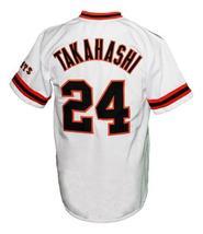 Yoshinobu Takahashi 24 Yomiuri Giants Tokyo Button Down Baseball Jersey Any Size image 2