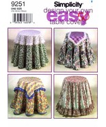 Simplicity Design Your Own Easy Table Covers Sewing Pattern # 9251 - $9.85