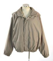EDDIE BAUER Beige Khaki Lightweight Lined Field Jacket w/ Hood Mensn Siz... - $18.80
