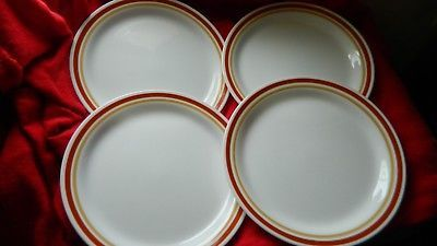 Primary image for CORELLE CHESTNUT 8.5 INCH LUNCH / SALAD PLATES x 4 GENTLY USED FREE USA SHIPPING