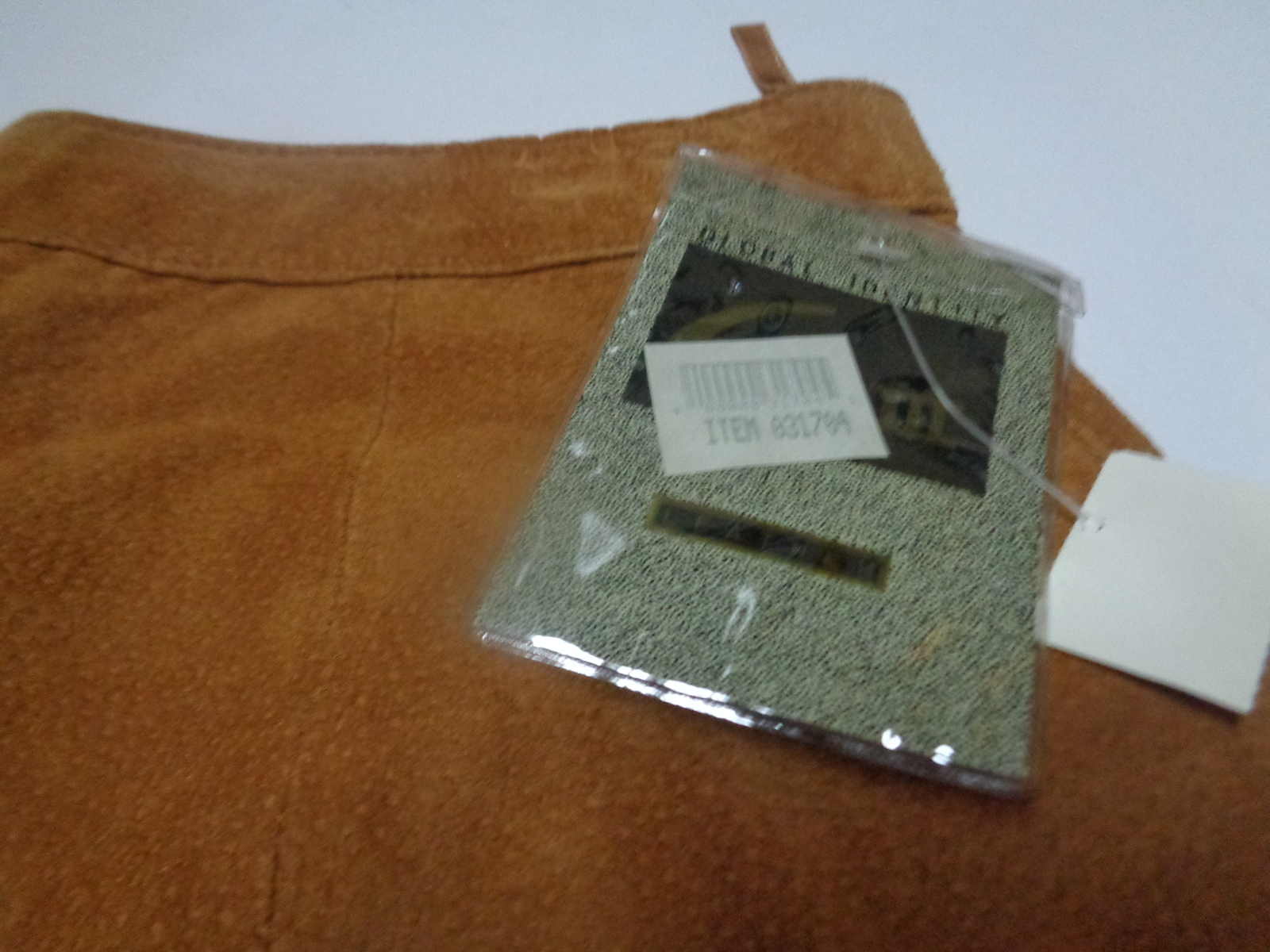 Global Identity Honey Brown Genuine Suede Leather Skirt NWT Sz 11/12