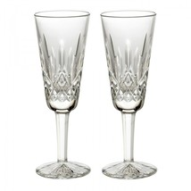 Waterford Lismore Champagne Flute 4oz Boxed Pair Brand New # 154040 - $122.02