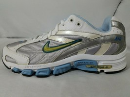 Nike Dual-D Firm Phylon Running Shoes 10 Womens White & Carolina Blue 31... - $24.49