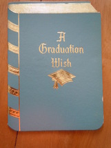 Vintage A Graduation Wish Hallmark Greeting Card  - $1.99