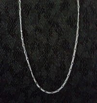 Figaro Chain Necklace - .925 Sterling Silver  [TT] - $10.36