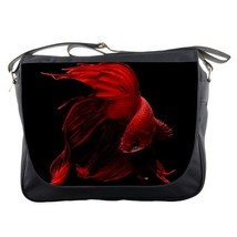Messenger Bag Beautiful Red Fish Animal The Siamese Fighting Fish Anime Game - $30.00