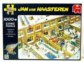 Jumbo CHRISTMAS EVE by Jan Van Haasteren 1000 piece comic jigsaw puzzle ... - $19.95