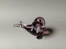 Miniature Glass Reclining Walrus    Handmade Blown Glass Made USA  - $29.69