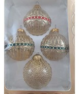 "Silvestri Classic European Designed Glass Christmas Ornaments 2.75"" Set ... - $26.72"