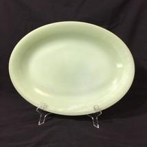 Fire King Oven Ware Jadeite Jadite Jane Ray 12 X 9 Oval Plate Platter Se... - $29.97
