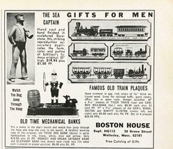 1965 Boston House Holiday Print Ad Gifts for Men Sea Captain Mechanical ... - $7.64