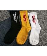 3PAIRS NEW VETEMENTS X DHL SOCKS YELLOW STRIPES SEXUAL SKATEBOARD SUPREM... - $12.73+