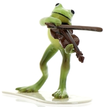 Hagen-Renaker Specialties Froggie Mountain Breakdown Bluegrass Frog Violin   image 2