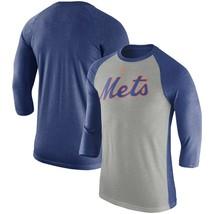 New York Mets Mens Nike Tri-Blend 3/4 Raglan T-Shirt  - Medium - NWT - $26.99