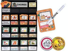 NEATLINGS Chore Chart System | 1 Child | 80+ Chore | Teal & Orange Cards - $38.95