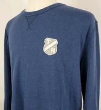 Tommy Hilfiger Long Sleeve T-Shirt XL Blue Crew Neck TH Patch Crest Cotton - $19.89