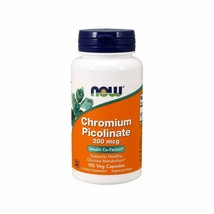 Now Supplements, Chromium Picolinate 200 mcg, 100 Veg Capsules - $9.36